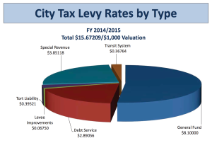 City Tax Levy Rate by Type
